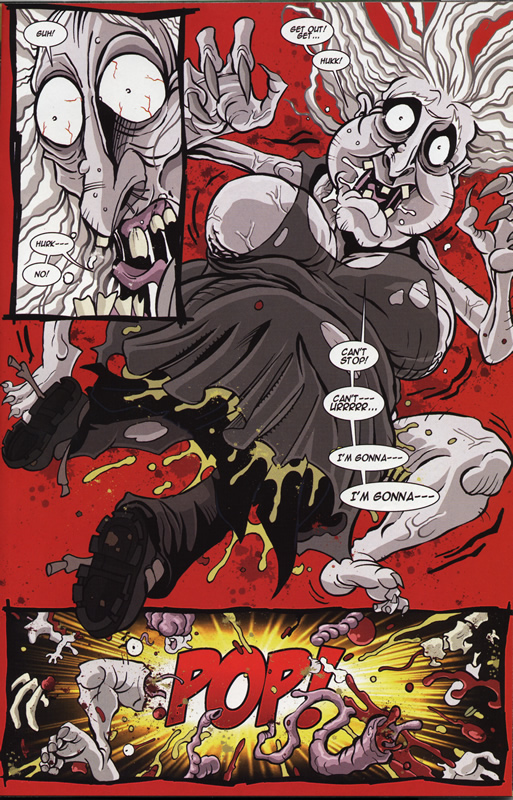 The Living Corpse Annual #1 - Vlad from Hack/Slash shoves The Living Corpse in a witch.