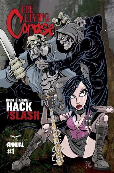 The Living Corpse cross over with Hack/Slash (Living Corpse Annual #1)
