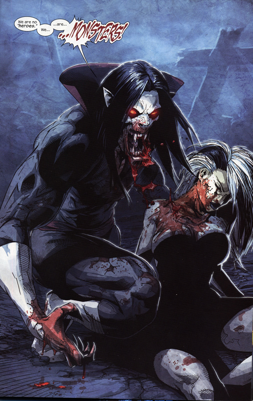 Marvel Zombies 4 #2 - Morbius proclaims We are no heroes we are monsters