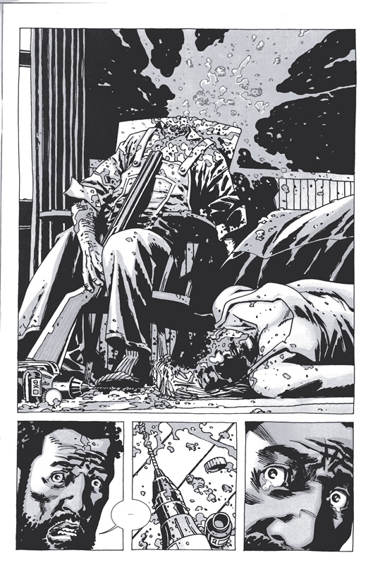 The Walking Dead #60 - Morgan finds an unsettling scene.