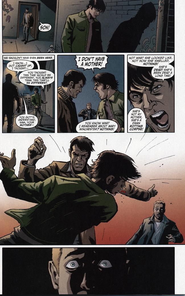 John Winchester slaps Sam - Supernatural: Beginning's End #1