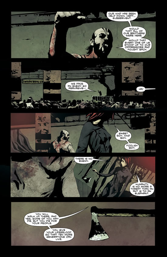 Andrea Sorrentino on I, Vampire
