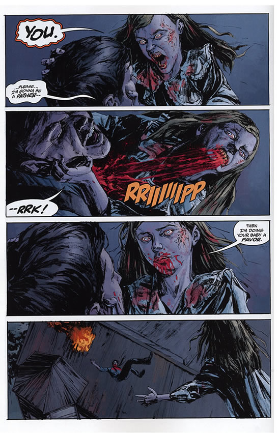 An enraged Abby grabs, flies, bites, and drops Wayne - Let Me In #4