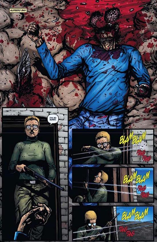 The aftermath of a gun shot - Raise the Dead 2 #2