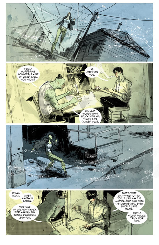 Riley Rossmo on Green Wake