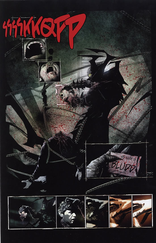 Spawn must rip the head off of a defiant vampire to obtain the leader's name - Spawn