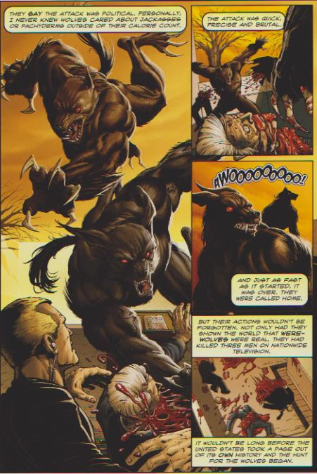Werewolves kill the President during his inauguration. - URSA Minor #1