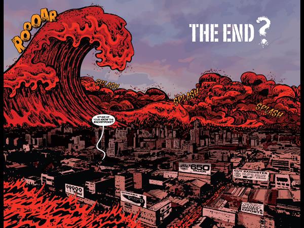 An ocean of blood overtakes NYC. Alan Roberts Killogy #4