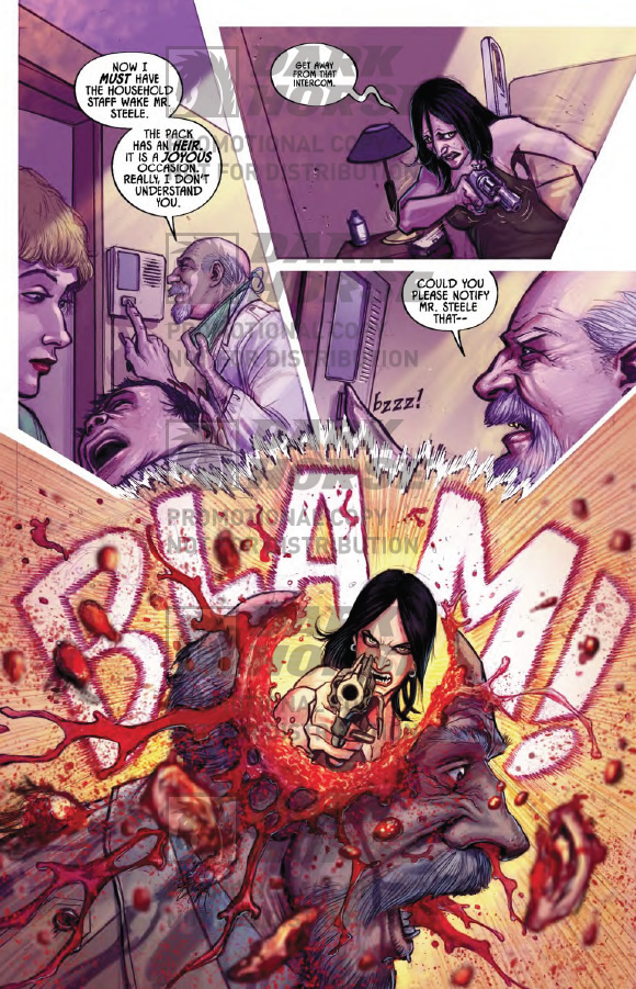 Meredith Steele blows out a doctors brains. Kiss Me Satan #2