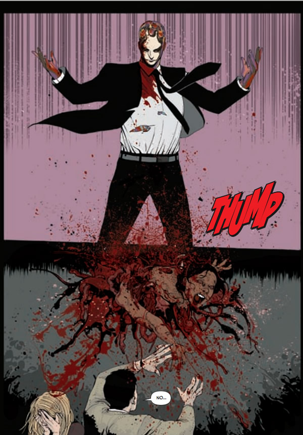 Wick rips a woman to shreds. Clive Barkers Next Testament #3