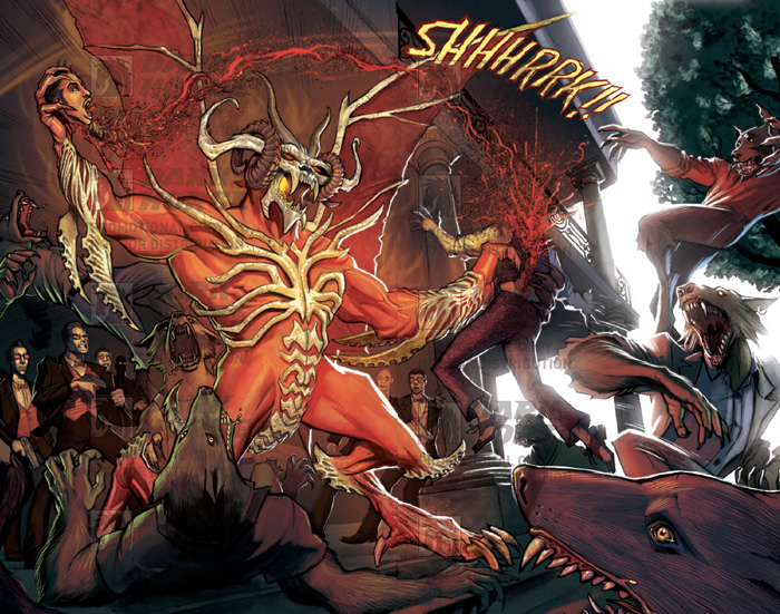 Barnabus Black kills Malcolm. - Kiss Me Satan #5