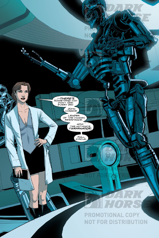 John Connor turned into a Terminator. - Terminator Salvation #11