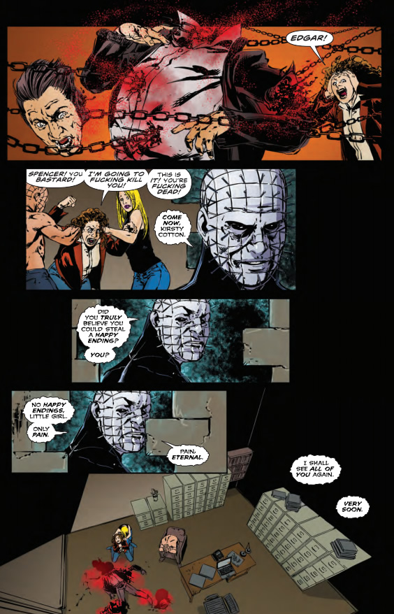 Pinhead at his best. - Hellraiser: Dark Watch #12