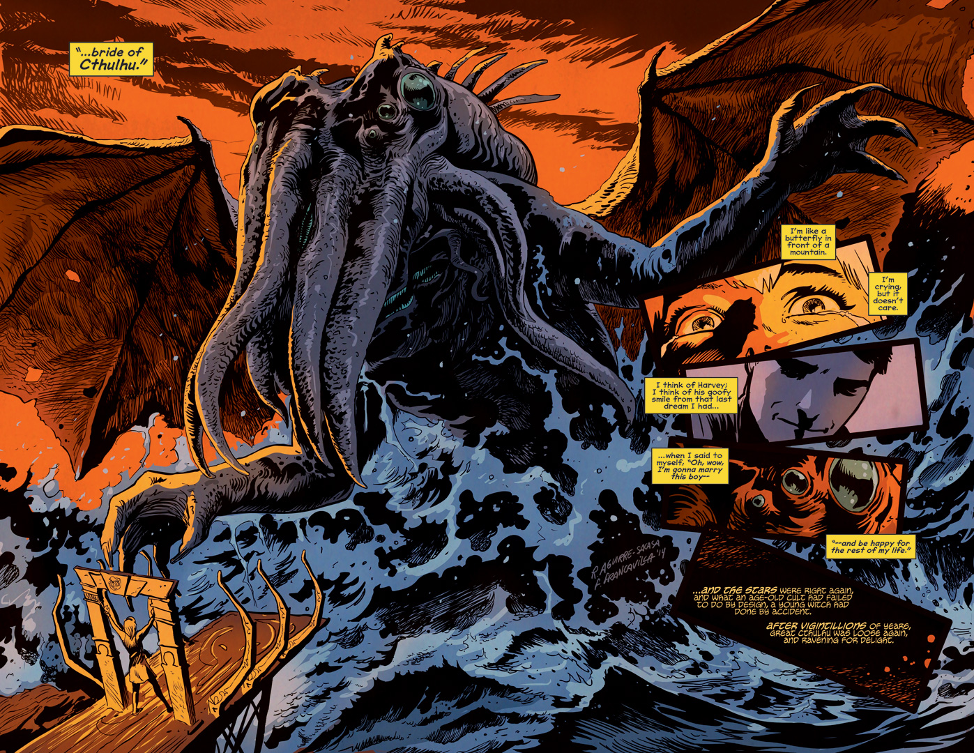 Cthulhu rises. - Afterlife with Archie #6